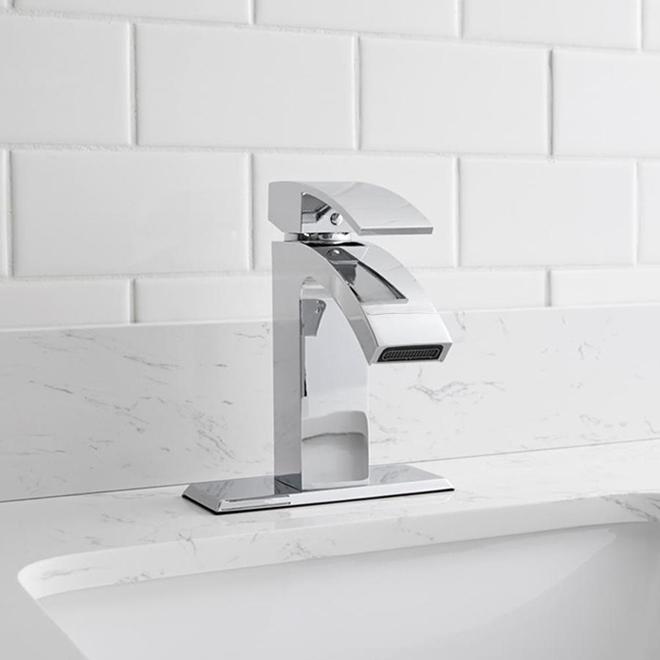 Allen + Roth Handle 1 Handle Bathroom Faucet - Metal - Chrome