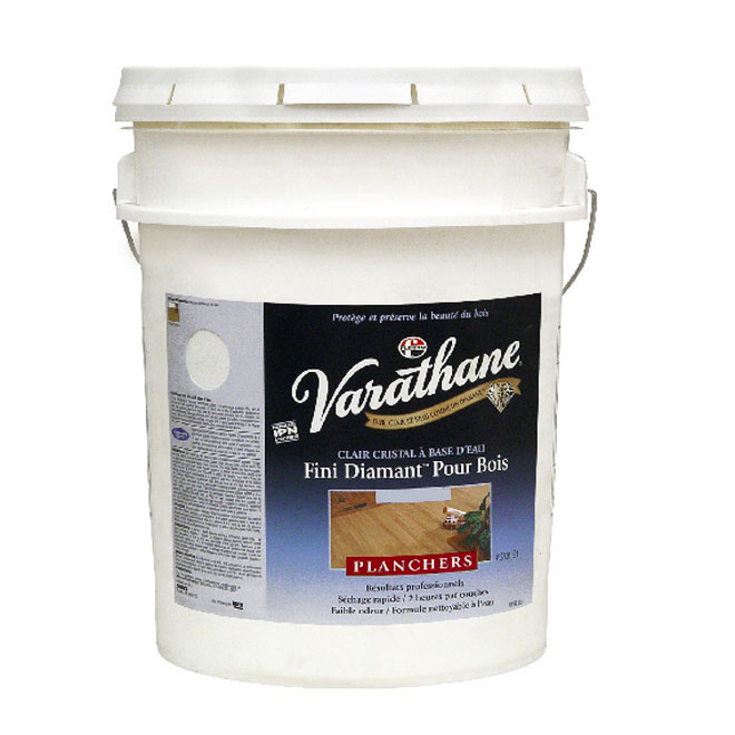 Fini diamant pour planchers en bois Varathane, écoresponsable, clair satiné, 18,9 L