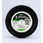 Atlas Universal Plastic Wheel - 6-in x 1 1/2-in