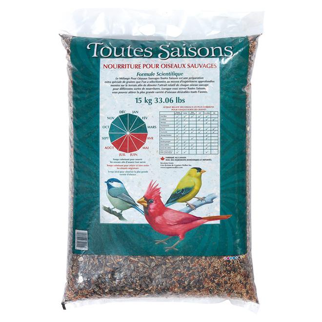Mélange gourmet toutes saisons pour oiseaux sauvages, 15 kg