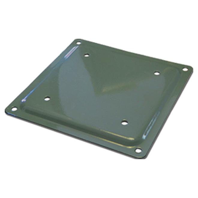 Plaque d'assise en acier «Fixplak»