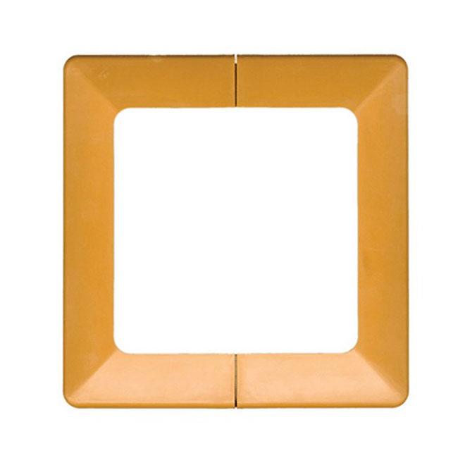 """Cache-base décoratif en polypropylène, poteau 4"""" x 4"""", cèdre"""