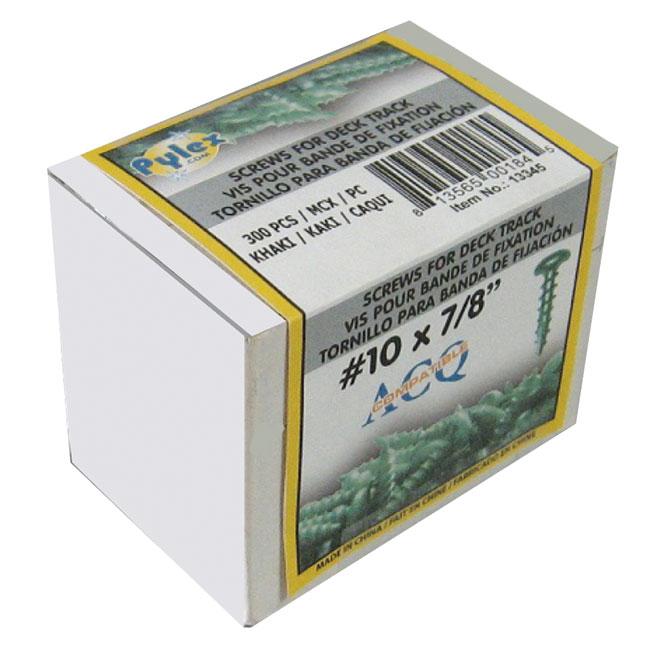 """Vis pour bande de fixation, #10 x 7/8"""", 300/boîte, noir"""