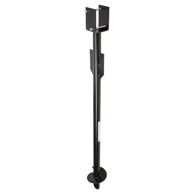 Anchor Screw for Fence - 55'' - Steel - Pylex-L - Black