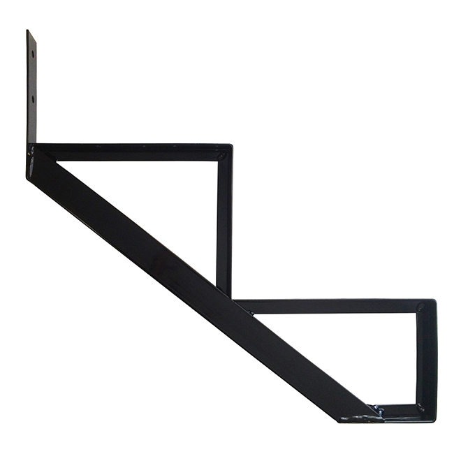 "Aluminum Stair Riser - 2 Steps - 7.5"" x 10.25"" - Black"