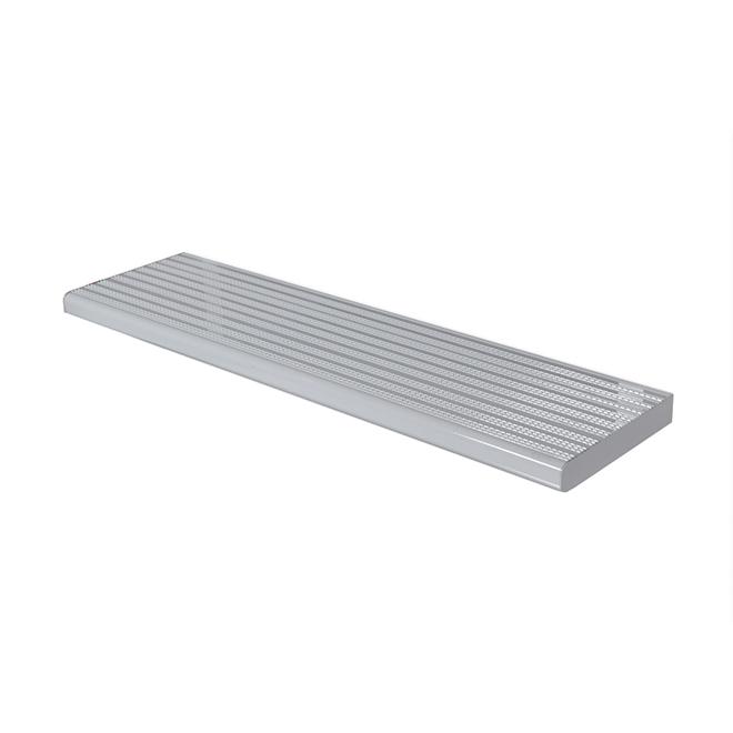 "Marche en aluminium, 11"" x 36"", blanc"