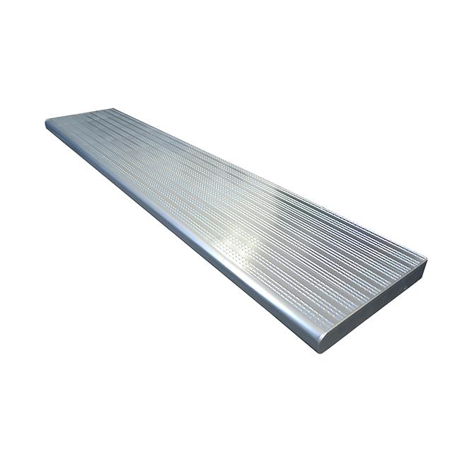 """Marche en aluminium, 11"""" x 36"""", argent"""
