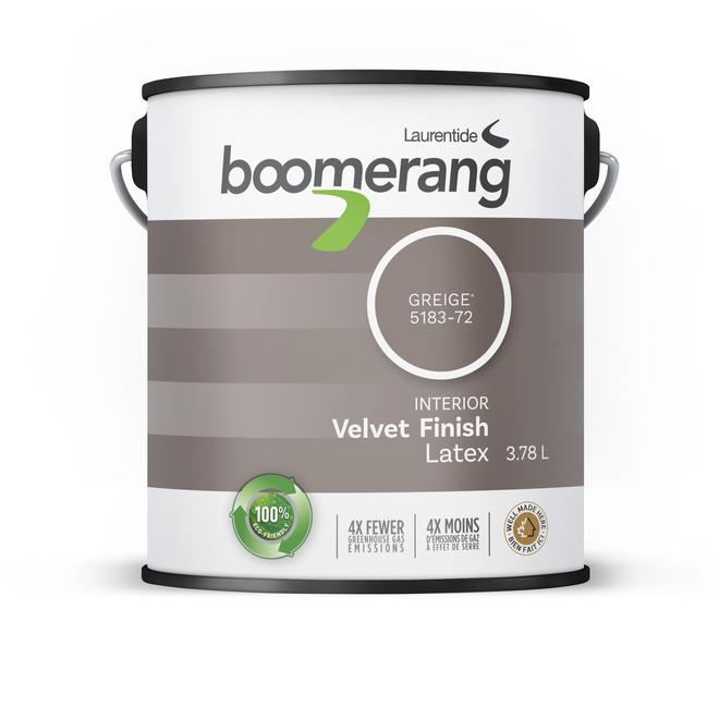 Boomerang Interior Recycled Paint - Velvet Finish - Greige - 3.78 Litres