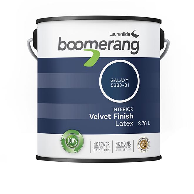 Boomerang Recycled Interior Paint - Latex - Velvet Finish - 3.78 L - Galaxy