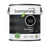 Peinture d'intérieur recyclée Boomerang en latex, fini velours, 3,78 l, noir charbon