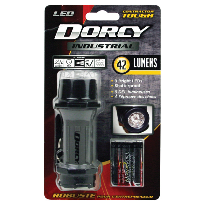Dorcy Compact Flashlight - Industrial - 9 LED Lights