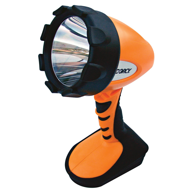 Portable Spotlight - Swiveling Base - Orange