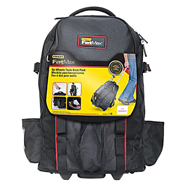 stanley sac dos pour outils avec roulettes noir 514192. Black Bedroom Furniture Sets. Home Design Ideas