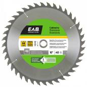 """Cabinetry"" Circular Saw Carbide Blade- 10"" - 40TH"