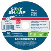 Metal Flat Wheel - Type 1 Professional Abrasive - 4 in. x 1/16 in.
