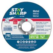 Metal Flat Wheel - Type 1 Professional Abrasive - 4 1/2 in. x 1/16 in.