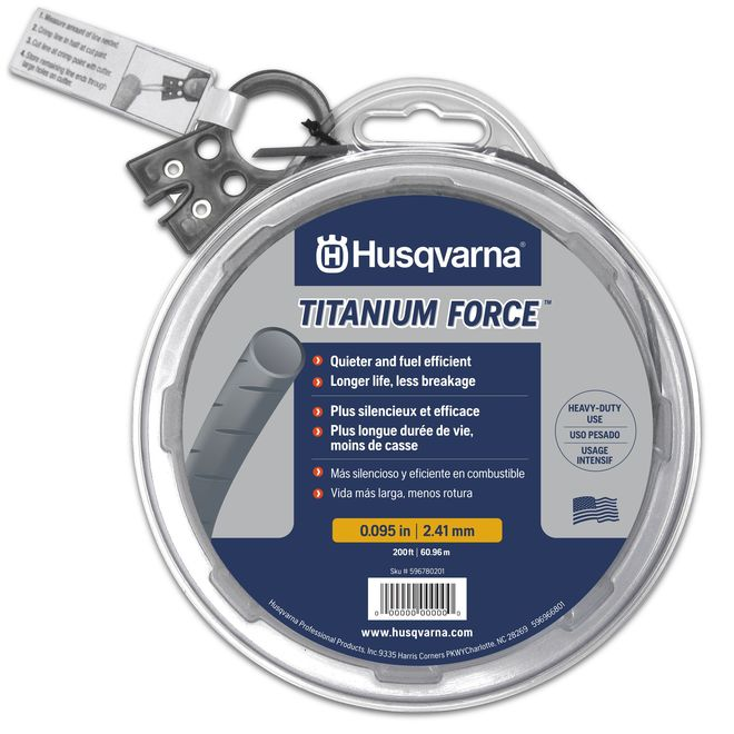 "Husqvarna Trimmer Line - 200' x 0.095"" - Silver"