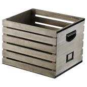 Wooden Crate with Label - Grey