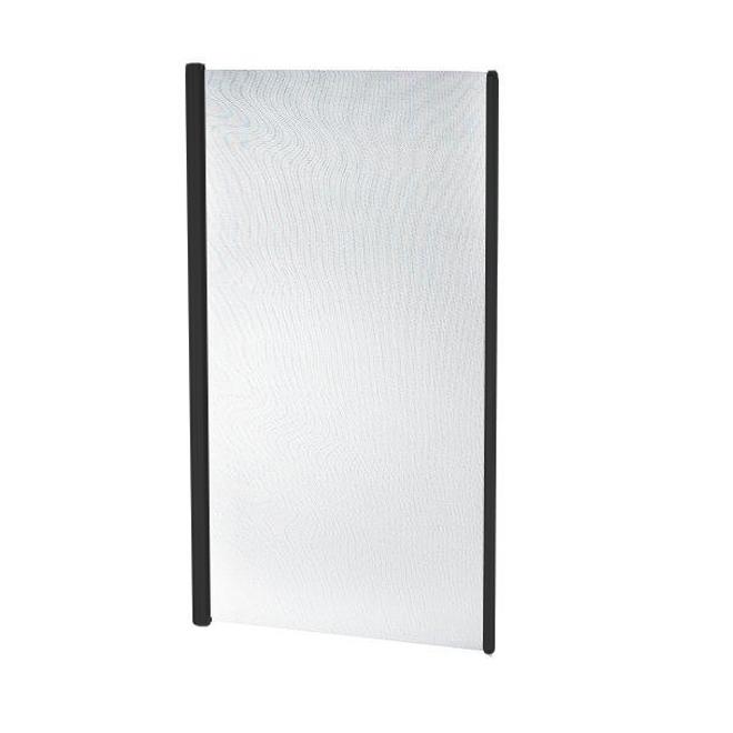 Moustiquaire rétractable, porte simple, 36'' x 79'', noir