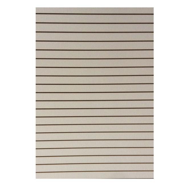 Panneau MDF, rainuré, blanc, 3/4 po x 49 po x 97 po
