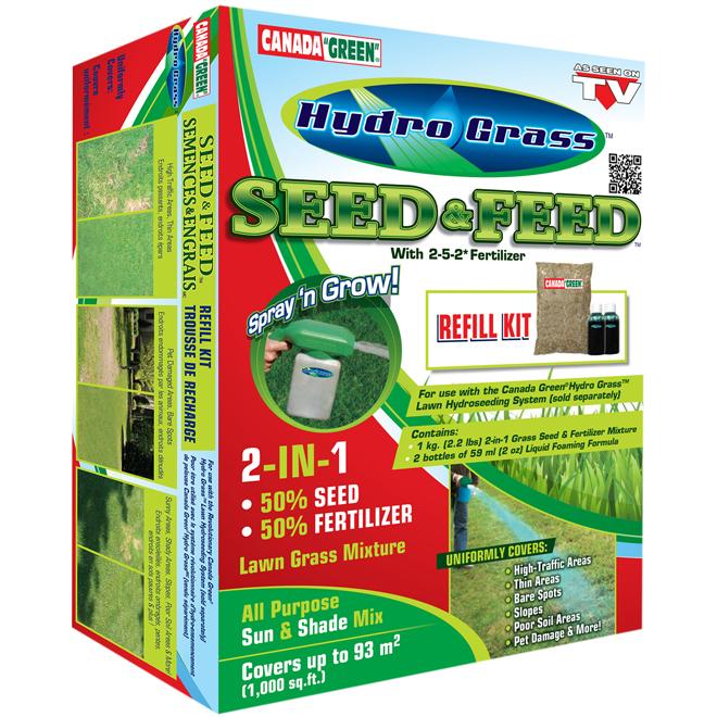 Recharge pour système Hydro Grass(MC), semences et engrais