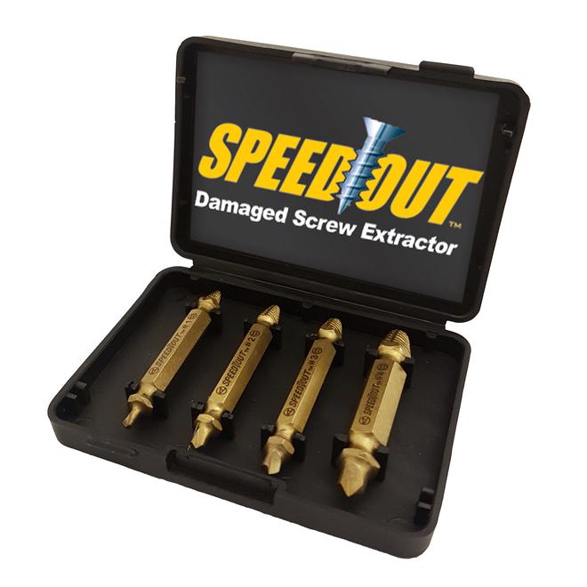 SpeedOut Screw Extractor Kit - Titanium - 4 Pieces