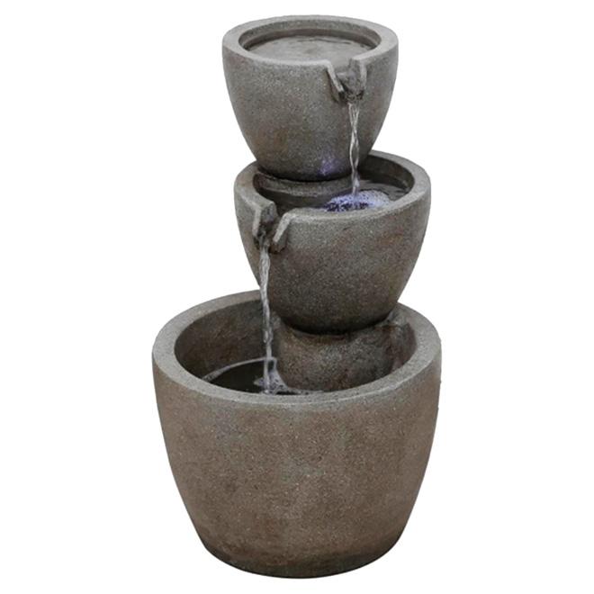 Style Selection Garden Fountain - Three-Tier - 12 3/4 - Stone FF28527