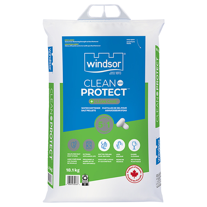 Clean and Protect plus Clean Care Water Softener Salt Pellets - 18.1 kg