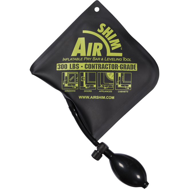 Inflatable Pry Bar/Leveling Tool - 6'' x 6'' - Black Matte