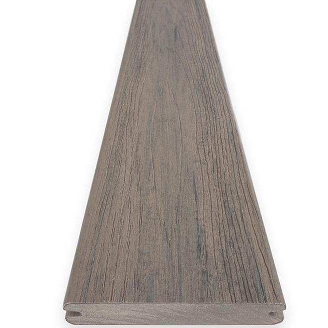 Lame de terrasse en composite TimberTech, bord rainuré, Driftwood, collection Reserve Pro