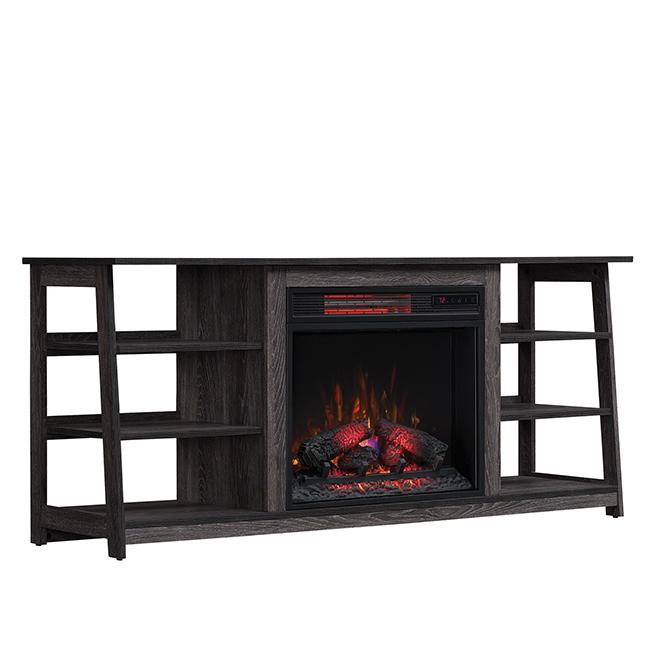 "Duraflame Electric Fireplace - Media - 1500 W - 26"" - Oak"