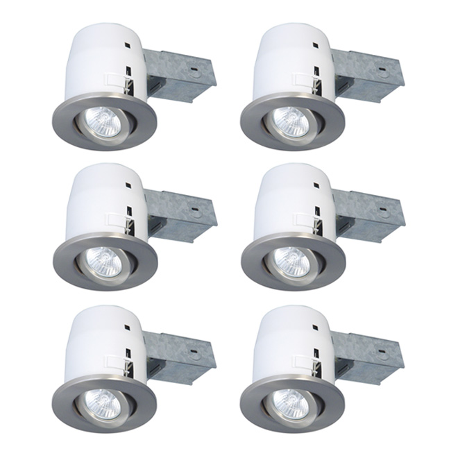 Set of 6 recessed light fixtures