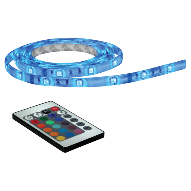 BAZZ Multi-Colour LED Light Strip With Remote - 10'