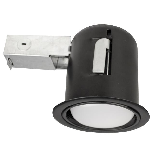 "Recessed Soffit Light - 75W BR30 - 4 1/2"" - Black"