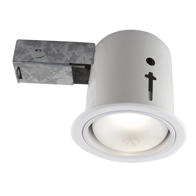 "Recessed Soffit Light - 75W BR30 - 4 1/2"" - White"