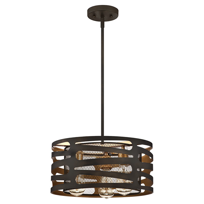 Westinghouse Pendant - 3 Lights - Vintage Look - Oiled Bronze 634961448