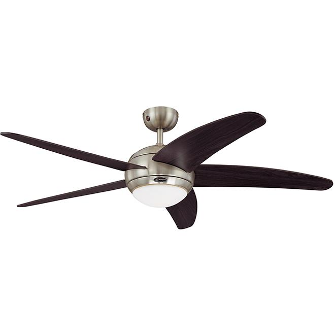 "Bendan Ceiling Fan - LED - 5 Blades - 52"" - Chrome"