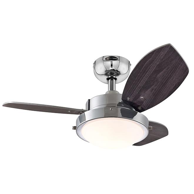 "Westinghouse Ceiling Fan - LED - 3 Blades - 30"" - Chrome"
