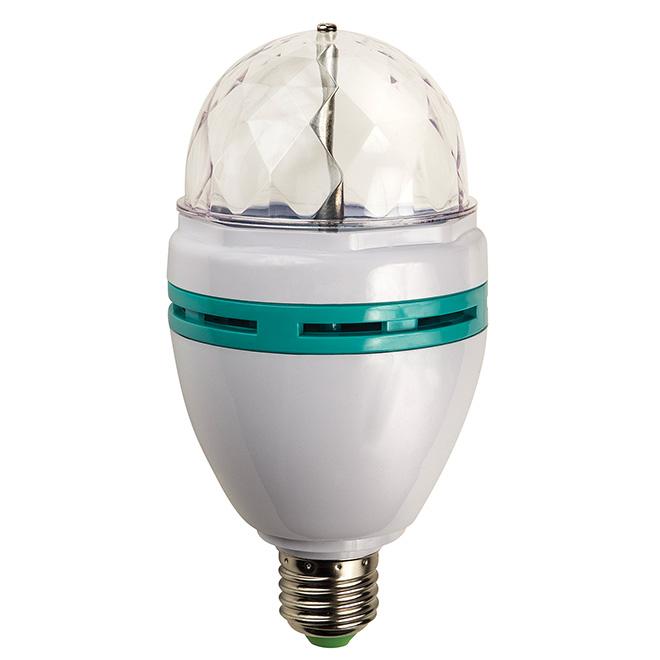 Ampoule DEL 3 W, lentille rotative, couleurs changeantes