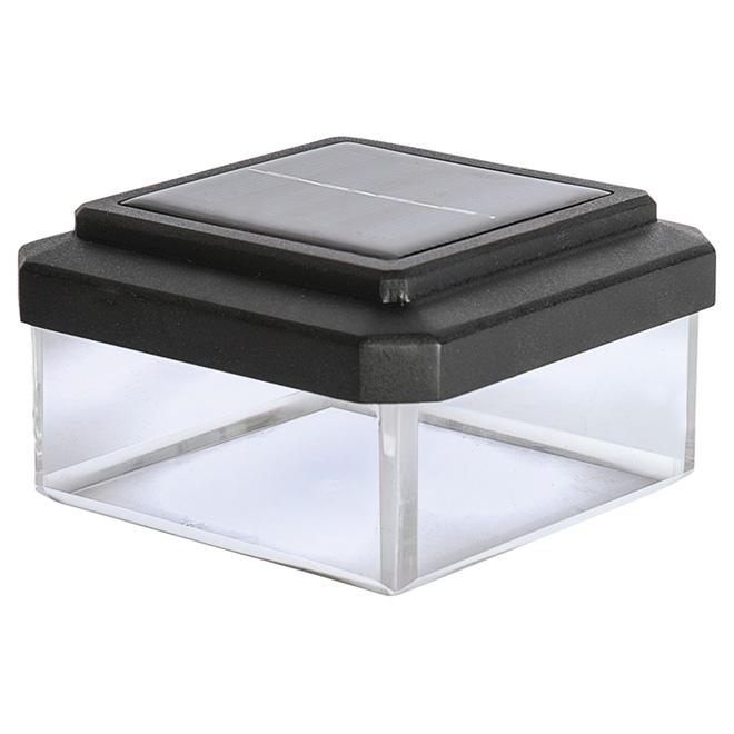 Capuchon solaire pour poteau, 1 lumière, noir
