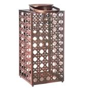 "Patio Lantern - Rattan Imitation - 15"" - Copper"