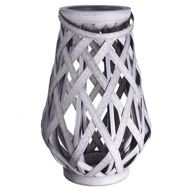 Lanterne de patio, panier de plastique, gris