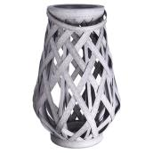 Patio Lantern - Plastic Basket - Grey