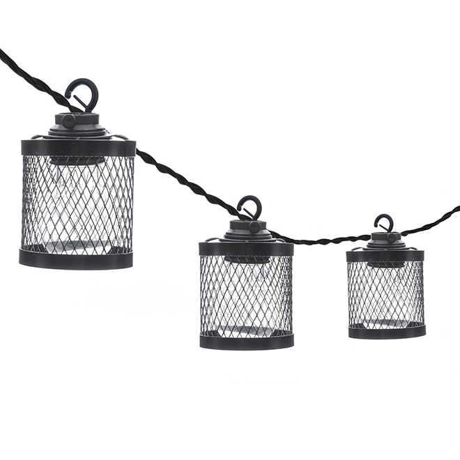 Paradise String Lights - 10 LED lights - in Black Metallic Cage