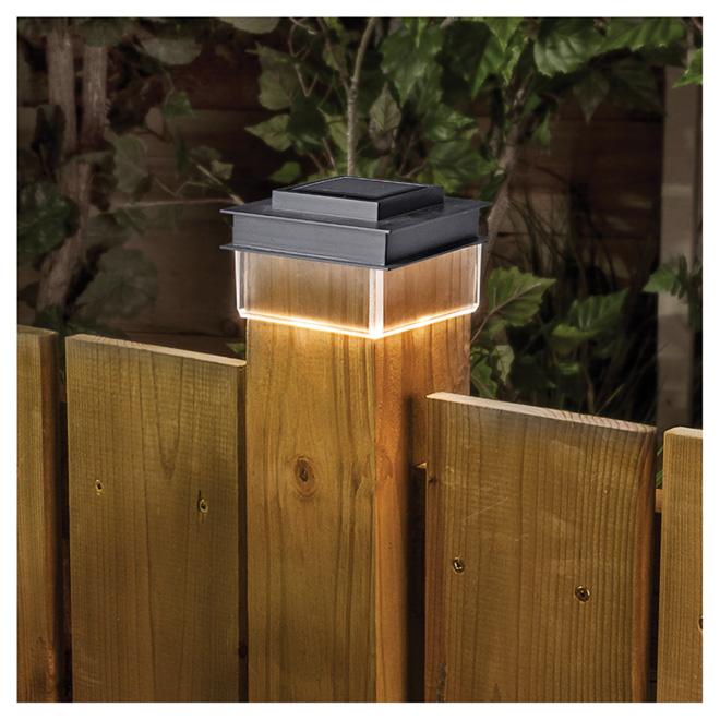 Solar Post Cap Light - 1 LED Light - Black