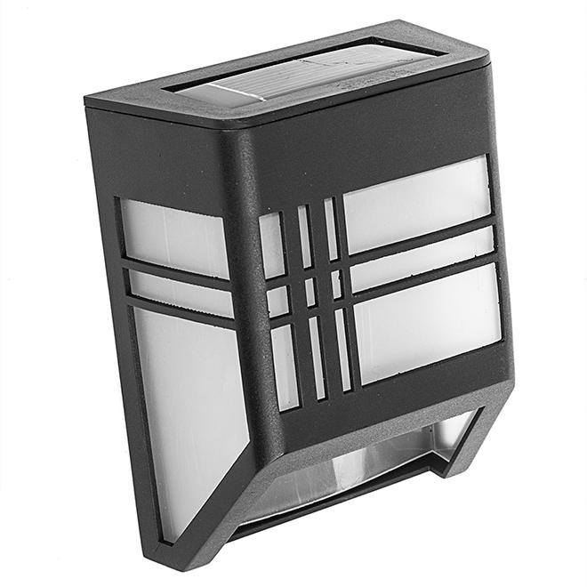 Lumière de patio solaire, 1 lumière DEL, noir