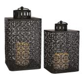 Metal LED Lanterns - Set of 2