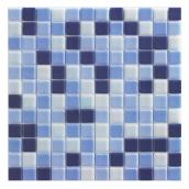 Tuile décorative pour mur Mono Serra Nordik, 12 po x 12 po, bleu, 10/bte