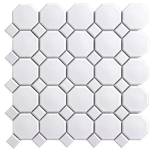 """Mosaique En Ceramique mono serra mosaïque en céramique 12"""" x 12"""", blanc, boite de 20 ms"""