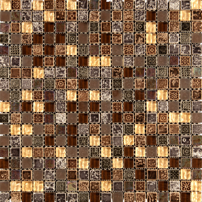 """Maya Forest"" Mosaic Wall Tiles - Glass - 12"" x 12"" - 11/box"